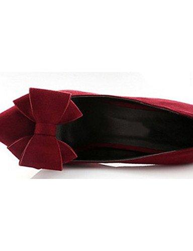 GGX/ Damenschuhe-High Heels-Lässig-Vlies-Stöckelabsatz-Absätze-Schwarz / Grün / Rot black-us6 / eu36 / uk4 / cn36