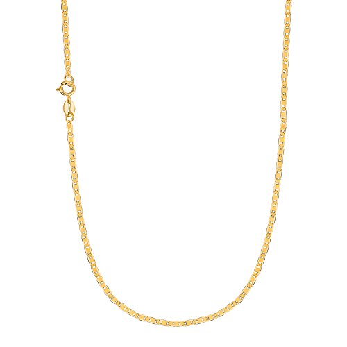 Ritastephens 10k Solid Yellow Gold Mariner Link Chain 20 Inches