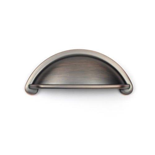 Century Hardware Lisbon 3 Inch Center to Center Antique Bronze/Copper Cabinet Cup Pull 21843-AZC