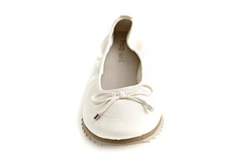 para Bianco Pretty Bailarinas Nana Piel mujer de qxCBRwTIx