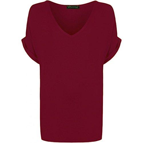 Fashion 1st - T-shirt - Donna Wine.