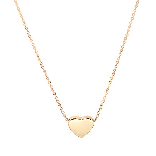 Necklace Heart (Spinningdaisy Simple Heart Necklace Gold Plated)
