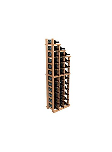 WineMaker Series Wine Rack – Waterfall Falling Right 3 – Premium Redwood Midnight Black Stain