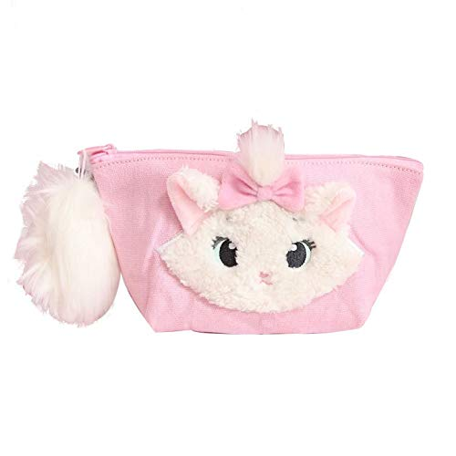 (Jewh Cartoon Marie Cat Plush Backpack Cute Animals Doll Toy Makeup Cosmetic Bag Coin Purse Girls Children Birthday Gift)