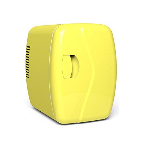 YI HOME- Car Refrigerator Portable Mini Fridge Household Small Electronic Frozen Freezer Dormitory Cooling Heating 10L,Yellow