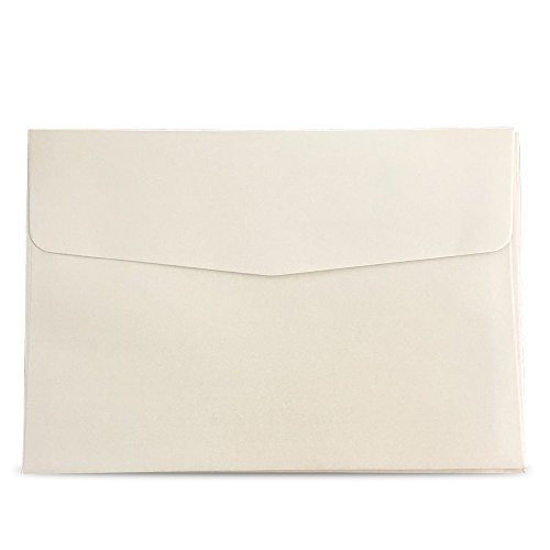 - Doris Home 50pcs A-7 Pearl Beige 5X7 Envelopes for Wedding Invitations, Greeting Cards, Photos, Announcements (5.3 x 7.7 inch),EN01-50 (Beige)