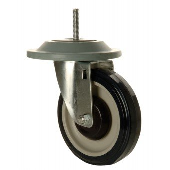 Focus Foodservice FTCAST5C 5 in. threaded swivel caster & bumper - Pack of 4 by Focus Foodservice