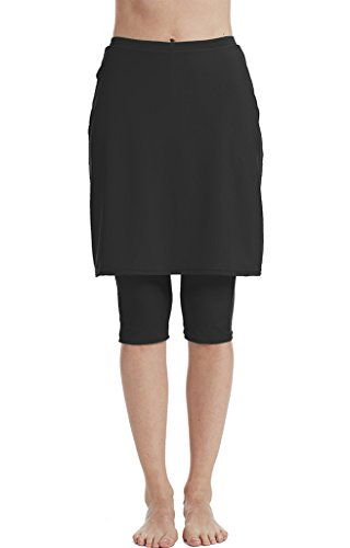 Seagoo Swim Skirt with Leggings Women UV Protection Skirted Swimming Leggings Pants -