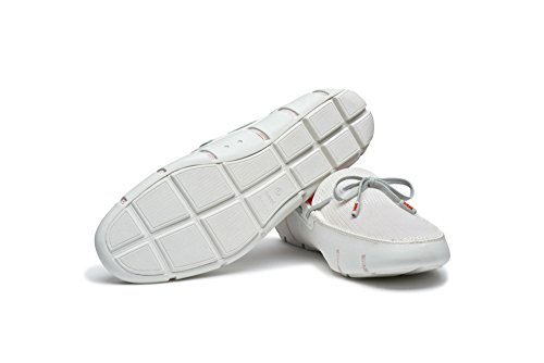 SWIMS Mens Lace Loafers White/Gray Eu2gHQ