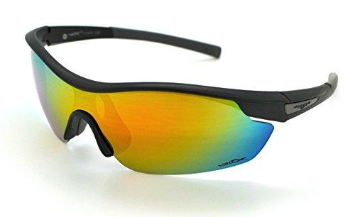 Vertx léger durable pour homme et pour femme Athletic Sport Wrap Lunettes de soleil Cyclisme Course à Pied W/étui microfibre gratuit - - 3OWDNyV1