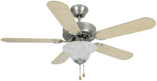 Hardware House 54-3587 Wyndham Series 42-Inch Triple Mount Ceiling Fan Light, Maple or Medium Oak