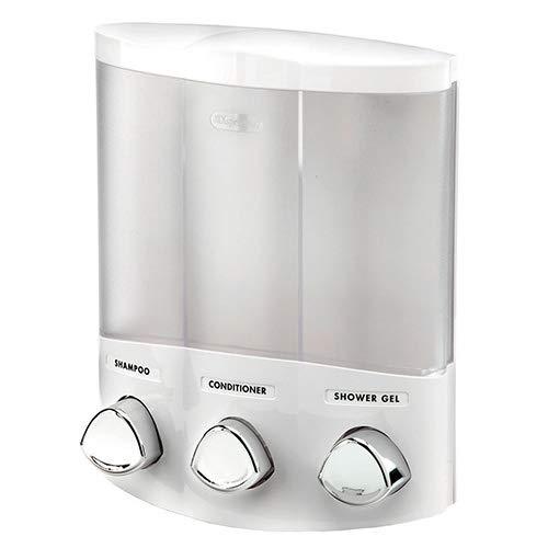 Better Living Products Aviva Trio soap/shampoo/gel dispenser, white