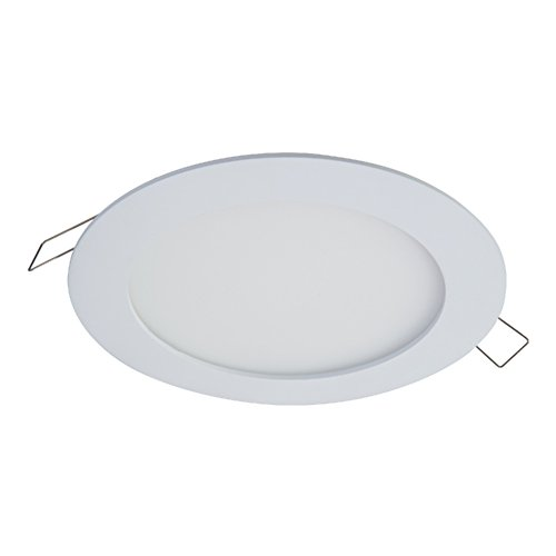- HALO SMD6R6950WHDM SMD-Dm Lens Round Integrated Led Surface Mount Recessed Downlight Trim, 5000K Daylight (No Can Needed), 6.2 In, White