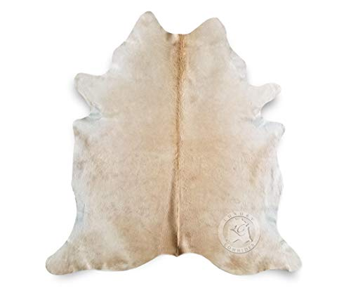 Butter Cream Exotic Cowhide Rug 5ft x 6.5ft 150 cm x 210cm ()