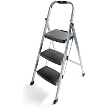 Polder Ultra Light Aluminum 3 Step Ladder Stepladders