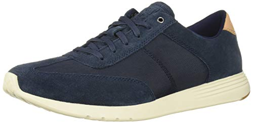 Lightweight Suede Sneakers - Cole Haan Men's Grand Crosscourt Runner Sneaker, Blueberry Suede, 9.5 M US