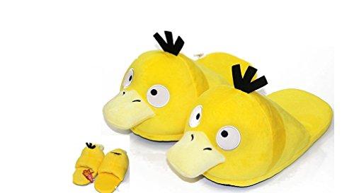 Pokemon Psyduck Unisex Adult Plush Slipper - Up to 11