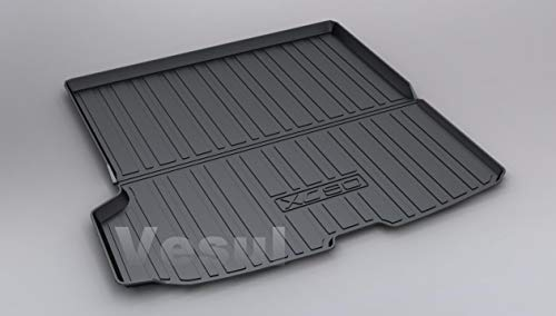 Vesul Rubber Rear Trunk Cover Cargo Liner Trunk Tray Floor Mat Carpet Compatible with Volvo XC90 2016 2017 2018 ()
