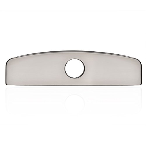 Kitchen/Bathroom Sink Faucet Hole Cover Deck Plate Escutcheon Brushed Nickel Peppermint (Plate Deck Nickel)