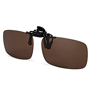 Polarized Clip-on Flip up Clip Sunglasses Lenses Glasses Lightweight Driving Fishing Outdoor Sports Day& Night