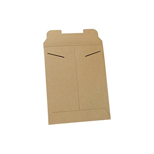 Stayflats Mailers | Reusable Rigid Shipping Envelopes | Repurpose Easy Packaging With Tab Lock Closure | Built-In Corner Protection | Stays Flat In Delivery | Kraft | 100 Per Case | 9-3/4