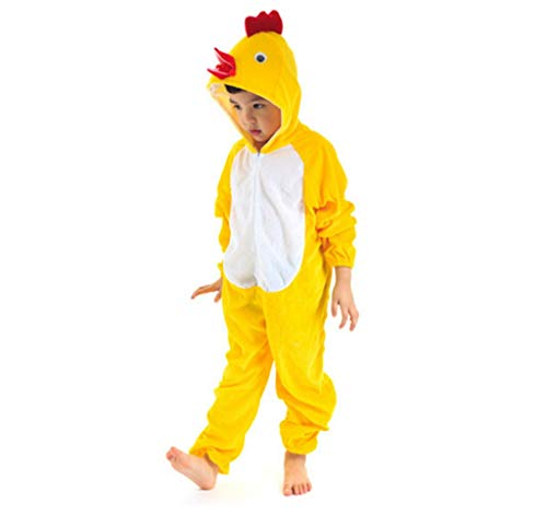 baycon Kids Animal Jumpsuit Costume Romper Frog Mouse Rabbit Chicken Cartoon Pajamas 120cm -