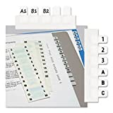 - Side-Mount Self-Stick Plastic A-Z Index Tabs, 1 inch, White, 104/Pack