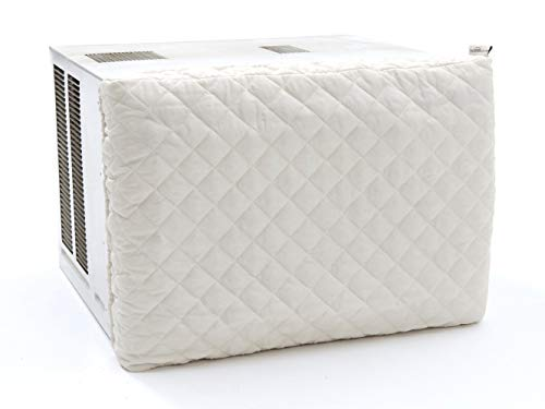 Covermates - Indoor Air Conditioner Cover - 21W x 2.5D x 15H - Diamond - Fitted Elastic - Prevents Drafts - 2 YR Warranty - Year Around Protection - Cream