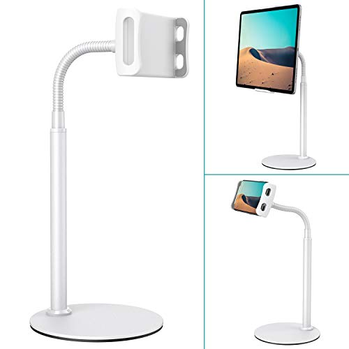 Tablet Stand Holder, Klearlook Metallic Multi-Angle Adjustable Stand Holder 360 Degree Swivel Rotation Flexible Arm for…