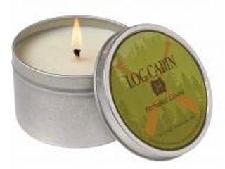 Log Cabin Tin Soy Candle by Hillhouse Naturals Hillhouse Naturals Farm LCC