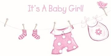 Its A Baby Girl New Baby Card