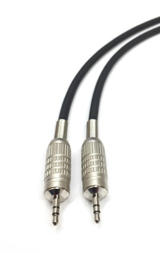 250ft 3.5mm Stereo Audio Cable Male to Male Black Jacket by Custom Cable Connection
