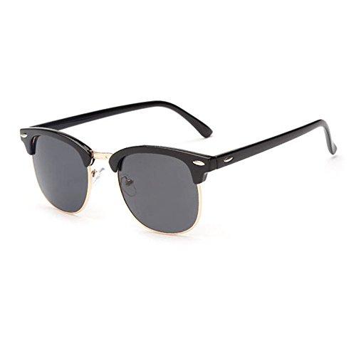 Aoligei Riz de Vintage classique nail color film fashion tendance lunettes de soleil réfléchissantes centaines tour lunettes de soleil A