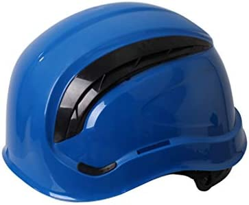 LCSHAN スポーツ通気性ヘルメット絶縁金属スプラッシュ強化衝撃吸収防水 (Color : Blue)