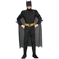 Rubie's Batman The Dark Knight Rises Adult Batman Costume, Black, X-Large