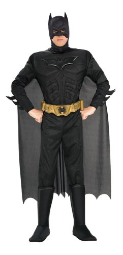 Batman The Dark Knight Rises Adult Batman Costume, Black, X-Large (Batman Black Knight Rises)