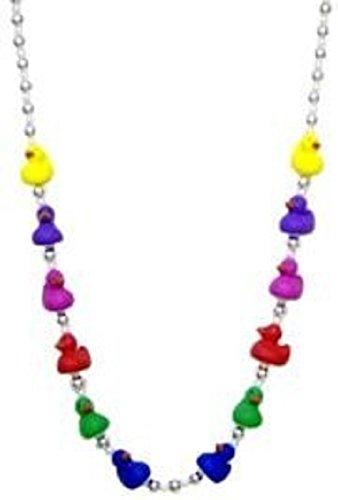 Mardi Gras, Rainbow Baby (Mini) Rubber Ducks Beads,