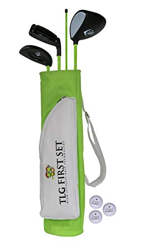 The Littlest Golfer Clubset: Kids Golf Clubs w/Golf Grips That Teach Proper Swing Technique - Left Hand 1.5-3 Years