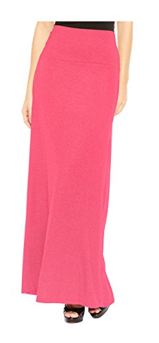 Long Coral (Red Hanger Women's Stylish Solid Long Maxi Skirt - Made In USA, Coral-L)