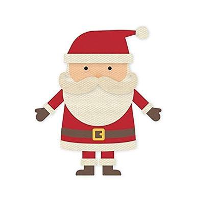 Amazon Com Lysansan Cute Santa Claus Metal Cutting Dies Carbon