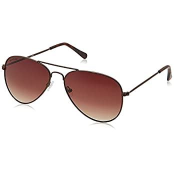Fastrack UV Protected Aviator Men's Sunglasses – (M138BR2|Brown Color)