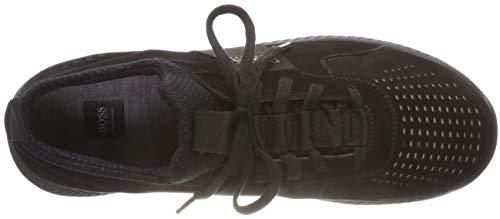 001 Sneakers Athleisure Noir Homme lux BOSS Runn Black Basses Titanium ZaqzH
