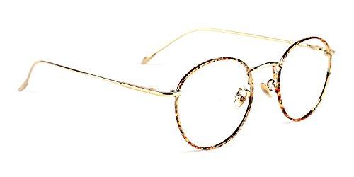 Metal Eyeglasses (TIJN Women Full Rim Round Metal Circle Eyeglasses Thin Frame)