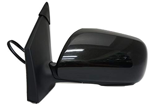 Zebra Side Exterior Mirror for 09-13 Corolla, Driver Side, W/Power, Heated, Gloss Black Cover (USA/Japan Built)
