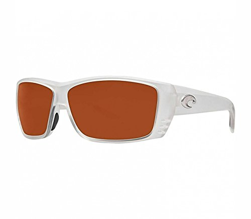 Costa Del Mar Sunglasses - Cat Cay- Glass / Frame: Matte Crystal Lens: Polarized Copper Wave 580 Glass (580 Wave Glass Lens)