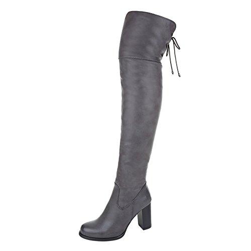 gris Ital botas Design Mujer clásicas wBxw7TA