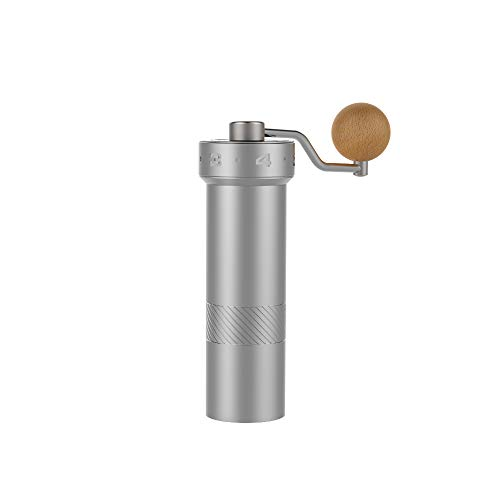 1Zpresso Manual Coffee Grinder E-PRO Series with Adjustable Stainless Steel Burr, Consistency Grinding, Best for Travel&Camping, French Press Coarse to Espresso Fine Grind (Gravity Coffee Grinder)