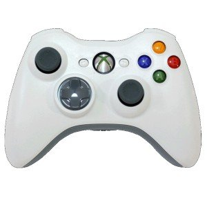 MS X-Box 360 White Stealth Multi 8 Mode Turbo Action Rapid Fire Gun Mod Wireless Game Controller