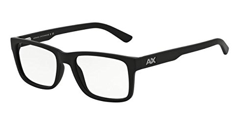 Armani Exchange AX3016 Eyeglass Frames 8078-53 - Matte Black - Prescription Armani Frames