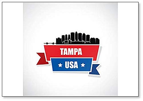 Tampa Skyline, Florida, United States of America, USA Fridge Magnet